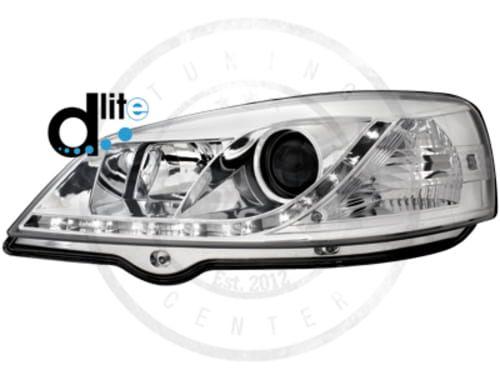 Lampy Przednie Opel Astra G D Lite Dectane Led Daylight Chrome