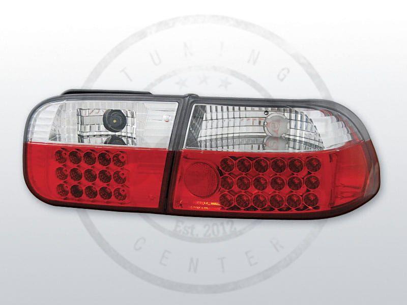 Lampy tylne HONDA CIVIC 09.91 08.95 2D4D RED WHITE LED