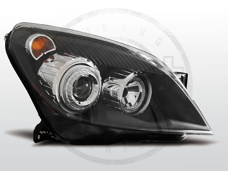 Lampy Przednie Opel Astra H 0304 09 35d Angel Eyes Black