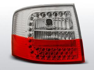 Lampy tylne AUDI A6 05.97-05.04 AVANT RED WHITE LED