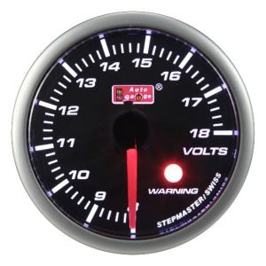 Auto Gauge SM Warning Smoke Voltmeter - Woltomierz 52mm