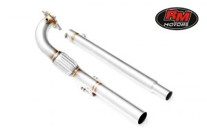 RM Motors Downpipe Decat AUDI A3 + SILENCER 1.8T, 2.0T