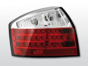 Lampy tylne AUDI A4 10.00-10.04 RED WHITE LED
