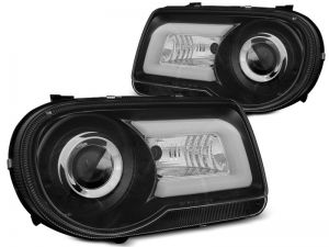 Lampy Przód CHRYSLER 300C 05-10 BLACK TUBE LIGHT