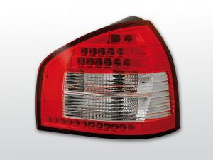 Lampy tylne AUDI A3 08.96-08.00 RED WHITE LED