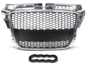 GRILL AUDI A3 (8P) RS-TYPE 04.08-07.12 CHROM