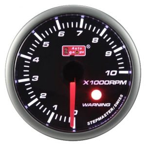 Auto Gauge SM Warning Smoke Tachometer - Obrotomierz 52mm
